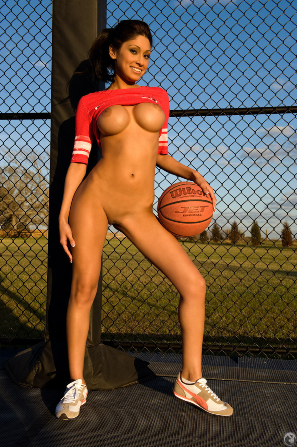 Girls Playing Naked Basketball
